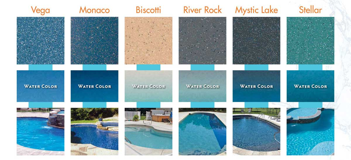 fiberglass pool finishes